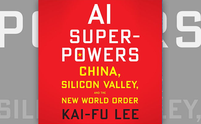 Book cover for AI Superpowers an audiobook about technology and how it will impact the future of a workplace.