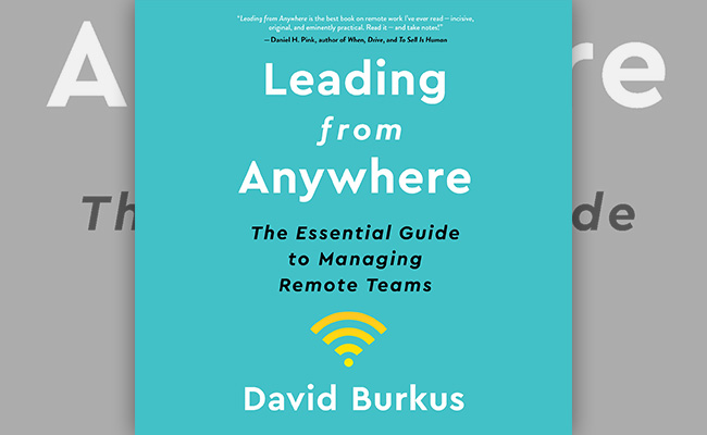 Book cover for Leading from Anywhere, an audiobook about Leadership during WFH.