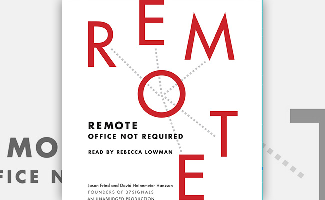 Book cover for Remote, an audiobook about remote work.