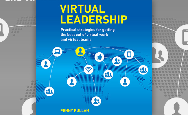 Book cover for Virtual Leadership, an audiobook about management in an era of WFH.
